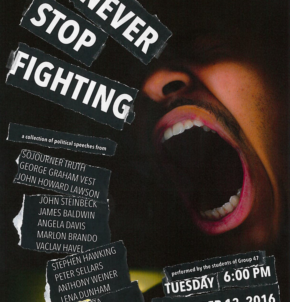 Never Stop Fighting: Political Speeches Today in Paul Hall