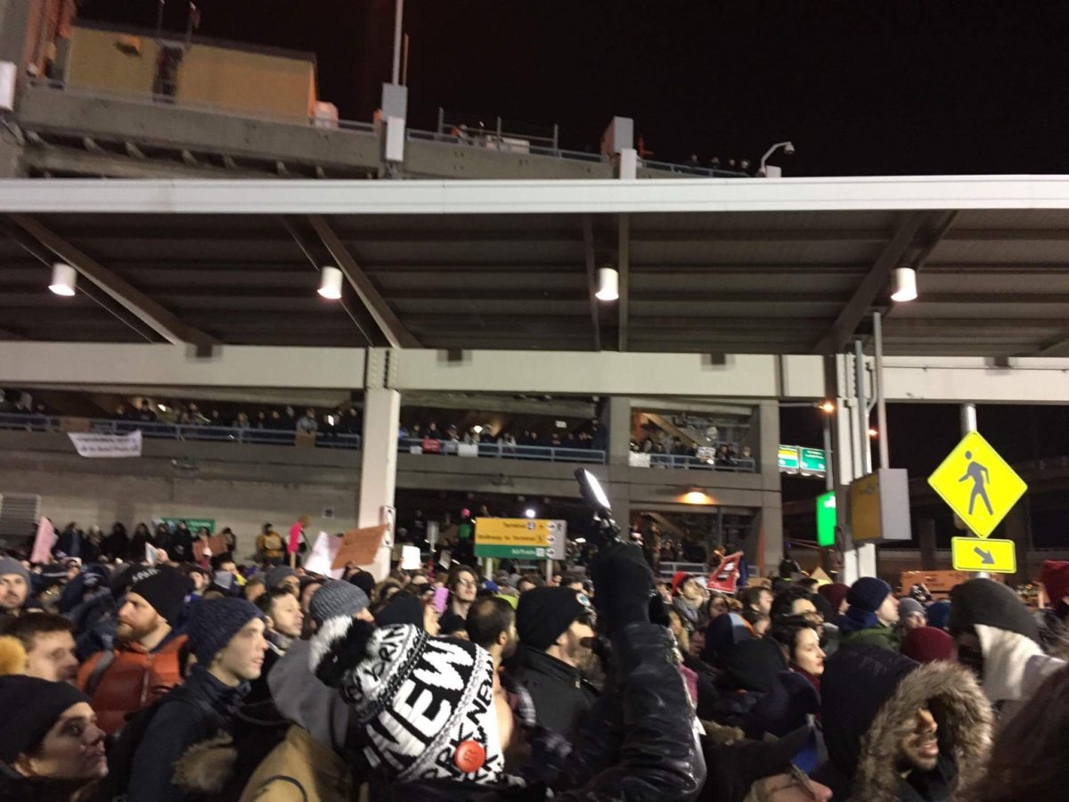 Happening now— Join the peaceful protests at JFK