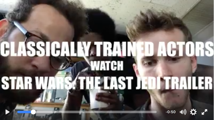 Classically-Trained Actors Watch a Movie Trailer