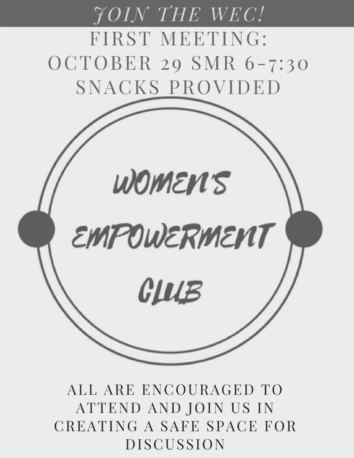 Women's Empowerment Club First Meeting!